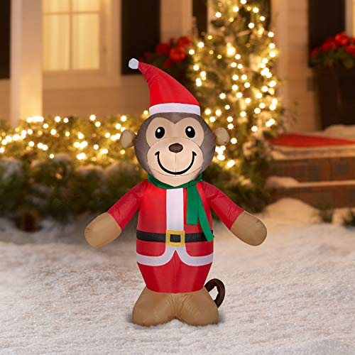 Holiday Time Inflatable Monkey, 4'