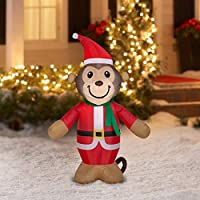4' Holiday Time Inflatable Monkey