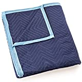 Sure-Max Moving & Packing Blanket - Deluxe Pro - 80'' x 72'' (40 lb/dz weight) - Professional Quilted Shipping Furniture Pad Royal Blue