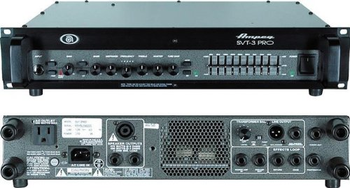 Ampeg SVT-3PRO Pro Series Tube/Solid-State Hybrid Bass Amplifier Head, 450 Watt