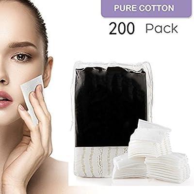 funwll algodón Pad de limpieza facial algodón orgánico maquillaje Puff Cara lavar algodón almohadillas eliminar maquillaje ahorrar agua, doble cara suave y suave maquillaje herramientas: Amazon.es: Belleza