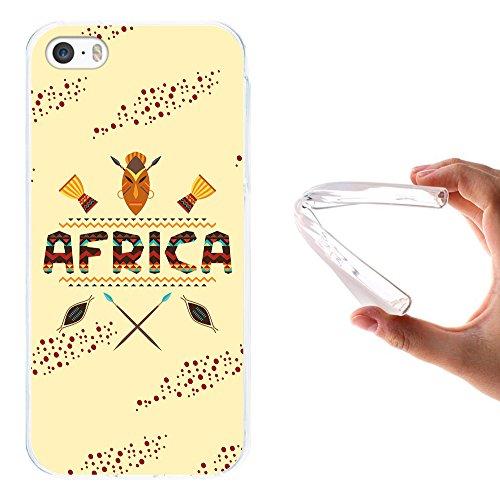 WoowCase Hülle Case für { iPhone SE iPhone 5 5S } Handy Cover Schutzhülle Afrikanische Symbolen