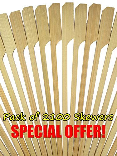 Cheese Wedges Snacks (Paddle Pick Skewers Bamboo Wood by HOT STIX 100% Bamboo Wood 3.5