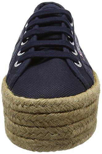 Women's Superga Navy Cotropew Trainers 2790 Blue 8drwdF
