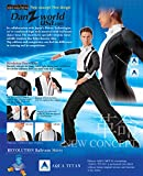 Taka Dance Ballroom Shirt MS280 with Collar Attached (43/17, Black/White)