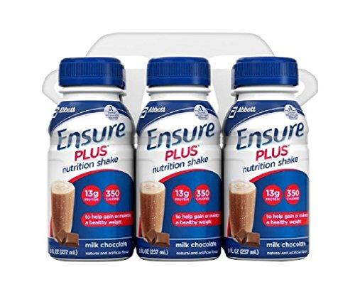 Ensure Plus Nutrition Shakes Milk Chocolate, 8 oz Bottles by Abbott Nutrition