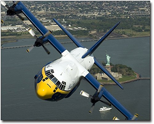 Blue Angels C-130 Hercules 'Fat Albert' Statue of Liberty 11x14 Silver Halide Photo Print
