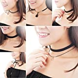 Gothic Black Lace Retro Choker Collar Lace Flower Pendant chain Necklace Jewelry#by pimchanok shop (style A)