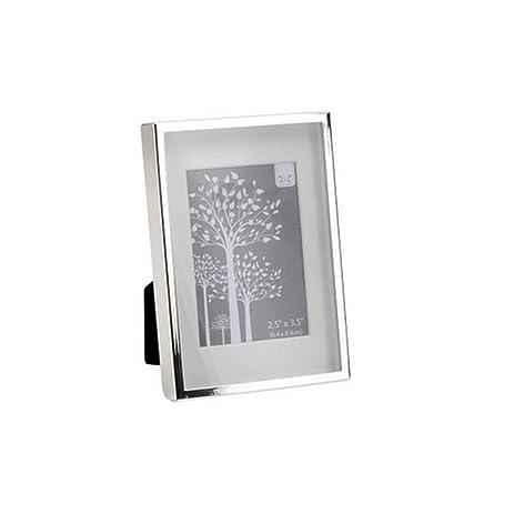 Amazon.com - CGB Giftware Silver Box Photo Frame (2.5 x 3.5in) (One ...