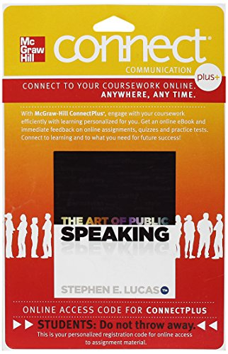 Book Depository Connect Plus Access Card for The Art of Public Speaking, 11 Edition by Stephen E. Lucas (CD-ROM).pdf