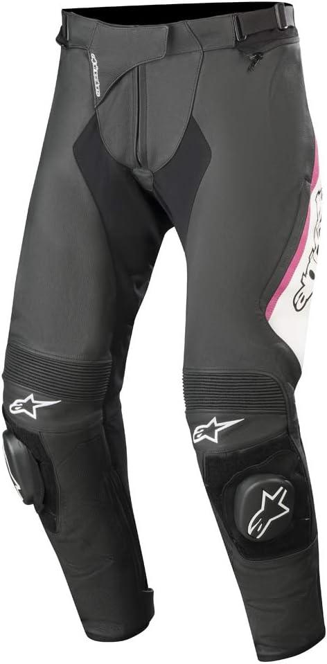 Schwarz Alpinestars Motorradhose Stella Missile V2 Leather Pants Black 50