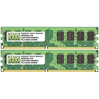 4GB (2 X 2GB) DDR2 800MHz PC2-6400 240-pin Memory RAM DIMM for Desktop PC