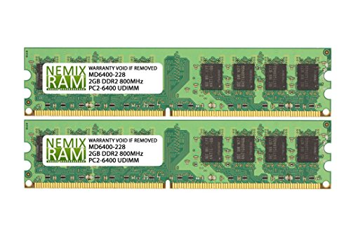 4GB (2 X 2GB) DDR2 800MHz PC2-6400 240-pin Memory RAM DIMM for Desktop PC ()