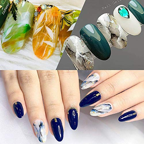 Cooljun Marbre Vernis Gel Semi Permanent UV LED , Gellen Vernis à Ongles  Nail Gel Soak off Manucure 15ml (C)