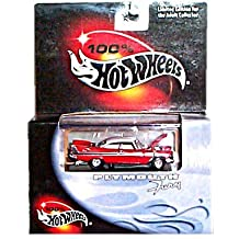 100% Hot Wheels - Limited Edition Cool Collectibles Series - Plymouth Fury (1957)(Red w/White Top) - Mounted in Display Case