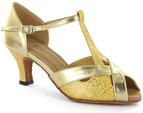 DSOL Womens Latin Dance Shoes D2703-1 Gold eInd4v
