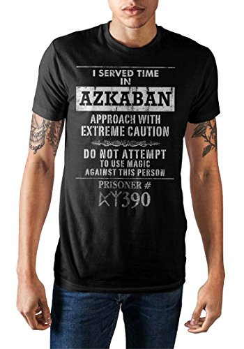 Harry Potter I Served Time in Azkaban Men's T-Shirt (Black, Medium)