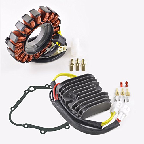 (Kit Improved Heavy Duty Stator + Mosfet Voltage Regulator Rectifier + Gasket Fits Suzuki GSX-R 600 GSXR 750 2006-2017)
