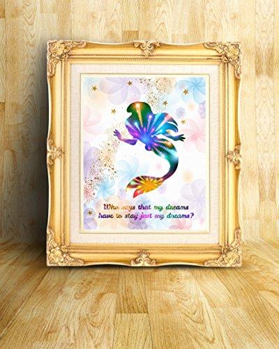 Uhomate Princess Ariel The Little Mermaid Abstract Art - Beachfront ...