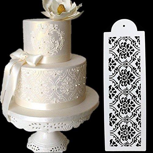 3Pcs/set Cake Stencil Damask Lace Border Birthday Cake Side Cupcake for Wedding Party Sugarcraft Decoration Baking (Leo Stencil)