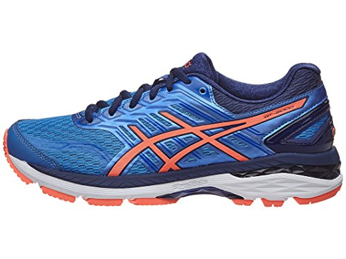 ASICS Women's GT-2000 5 Running-Shoes, Regatta Blue/Flash Coral/Indigo Blue, 8 Medium US