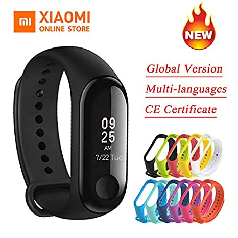 Global Version Xiaomi Mi Band 3 Miband 3 Smart Tracker Band Instant Message  5ATM Waterproof OLED Touch Screen Mi Band 3 - Black Color