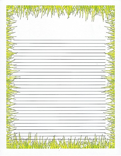 Kids Camp Grass Lined Stationery Paper 26 (Children Lined Stationery)
