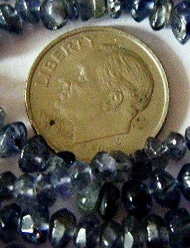 Bead, Gemstone Iolite Faceted Rondelle 5-6x2mm - 20pcs