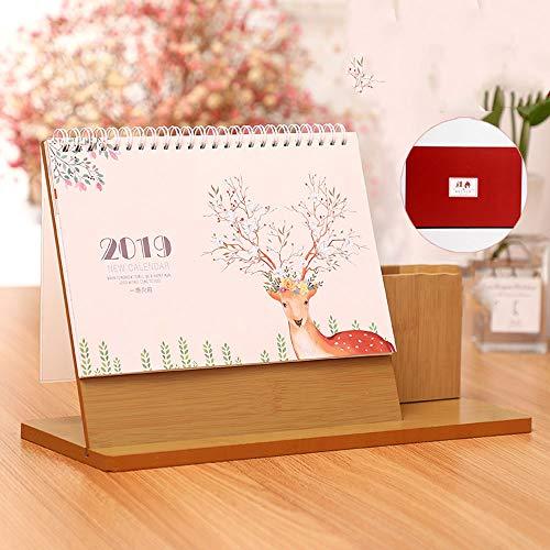 ZCF 2019 Calendario de Escritorio Escritorio Flip Calendario de pie Escritorio de planificación (Edition : B)
