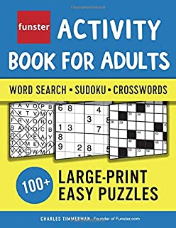 funster activity book for adults word search sudoku crosswords 100 large