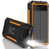 Solar Charger 30000mAh,Qi Wireless Solar Power Bank