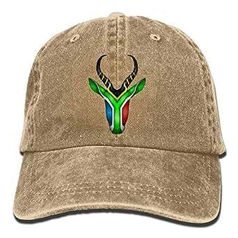 KunYi South African Springbok Denim Hat Adjustable Male ...