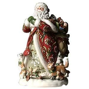 Fitz and Floyd Winter Holiday Santa Cookie Jar ~Retired~