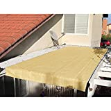 Alion Home Pergola Shade Cover Sunblock Patio Canopy HDPE Permeable Cloth with Grommets (12' x 12', Sand)