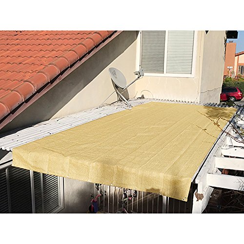Alion Home Pergola Shade Cover Sunblock Patio Canopy HDPE Permeable Cloth with Grommets (12̸ ...