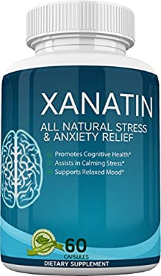 Xanatin - All Natural Stress & Anxiety Relief - Promotes Cognitive Health - Supports Relaxed Mood