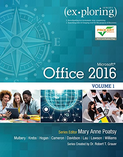 Pdf Computers Exploring Microsoft Office 2016 Volume 1 (Exploring for Office 2016 Series)