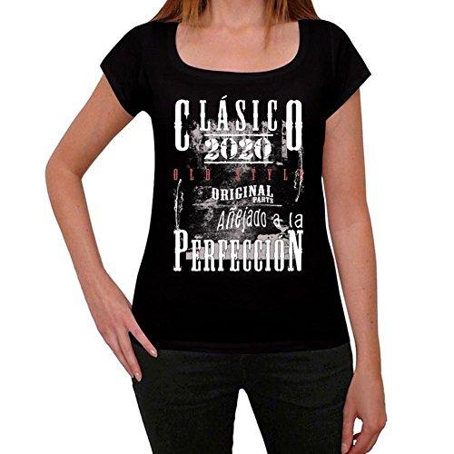 2020, camisetas vintage mujer, clasico camiseta, camiseta regalo negro