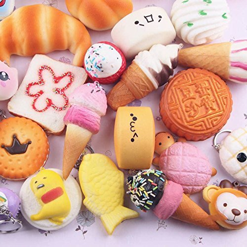 Yeti Costume Diy (30PCS Lot Mini Random Squishy Soft Panda/Bread/Cake/Buns Phone Straps Charm Hot)
