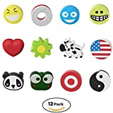 #6: Sorbz Tennis Dampeners   Super 12 Pack   Have Fun and Personalize Your Racket With Shock Absorbers   Perfect Gift For Tennis Players   Latest 2018 Designs