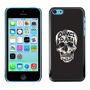 EJOY---Cubierta de la caja de protección la piel dura para el / iPhone 5C / --Baila al cráneo ¡Muerte