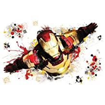 RoomMates RMK2238SLM Iron Man 3 Graphic Peel and Stick Giant Wall Decals