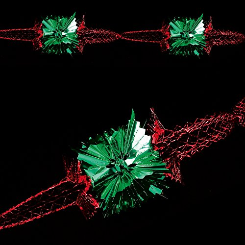 Premier Christmas Foil Ceiling Decoration 20Cm 4 Section Full Garland Green / ()