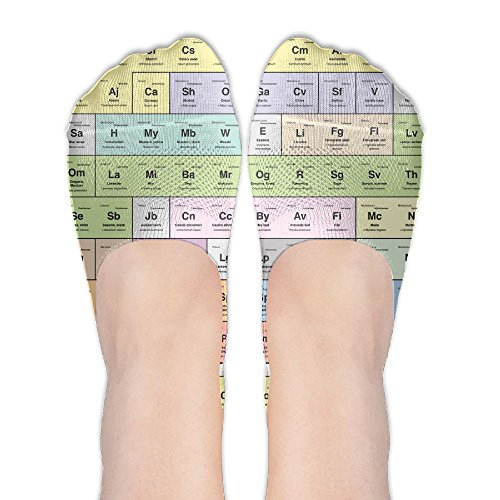 Periodic Table Of Chemical Element Awesome Womens Non Slip Ankle No Show - Canada Table Periodic