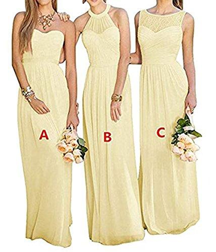 BerryMe Dress Women's Chiffon Long Bridesmaid Dresses Sleeveless Prom Formal Dress BM255
