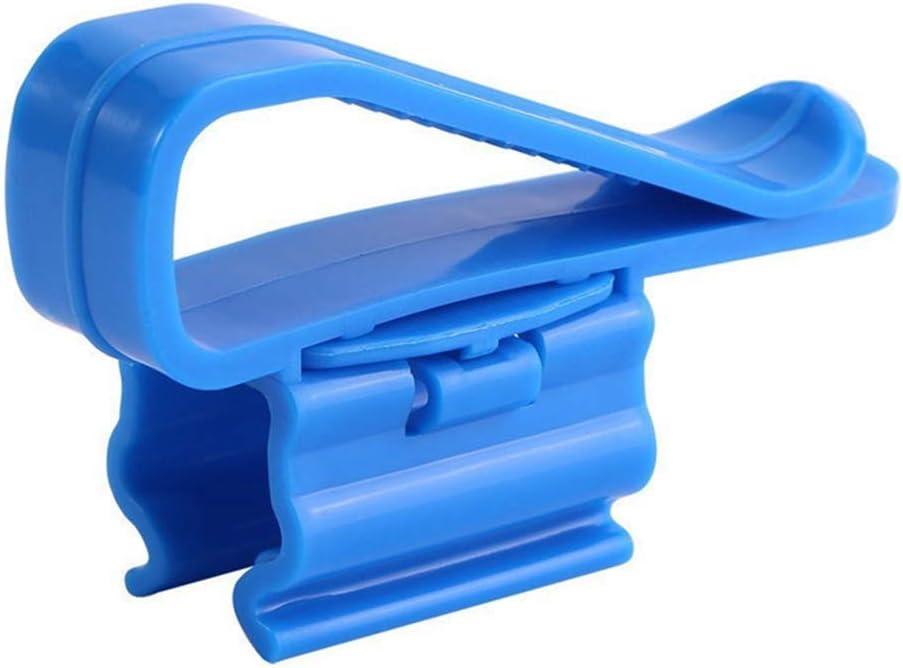 PanDaDa 2Pcs Multifunctional Aquarium Water Pipe Holder Water Tube Fixed Clip Fish Tank Hose Clamp Blue