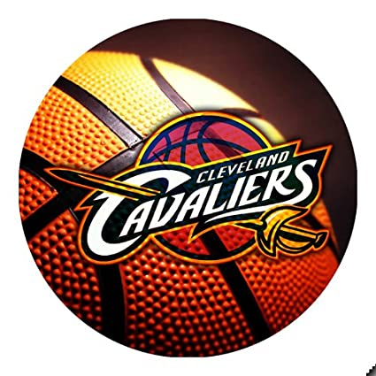 new product 00b6d 7ab56 Amazon.com : Cavaliers Basketball Round THICK Mousepad Mouse ...