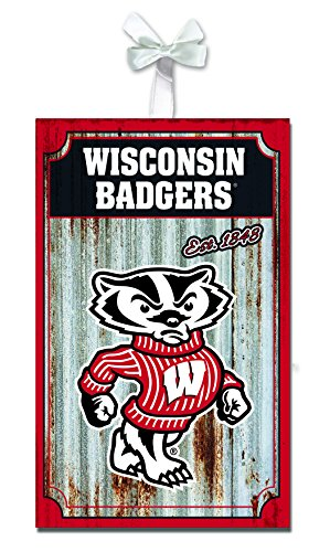 (Team Sports America Wisconsin-Madison Badgers Corrugated Metal Ornament)