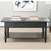 Safavieh American Homes Collection Boris Distressed Black Coffee Table