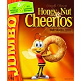 Cheerios Honey Nut Jumbo Cereal, 1.3-Kilogram